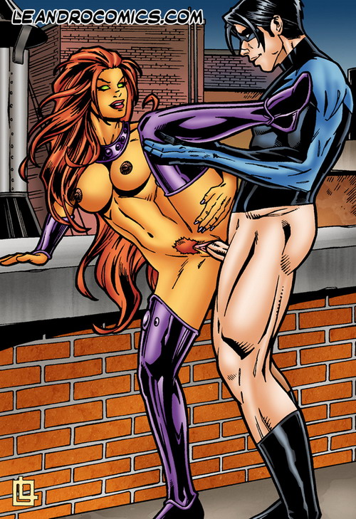Starfire fucks Nightwing