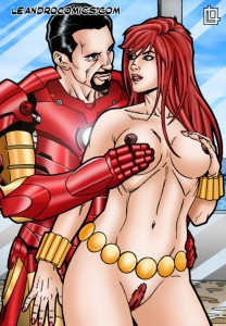 Sexy leandro comics about Iron Man