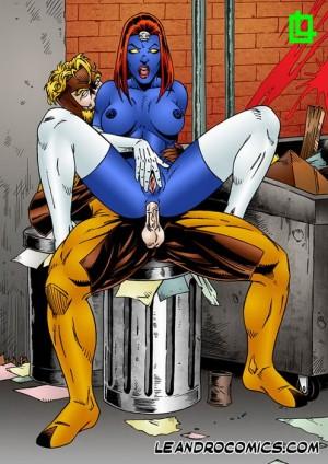 HQ Leandro comics free story - Leandro Comics Mystique Sabertooth X-Men Sex