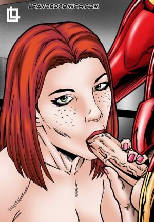 Leandro Comics porn style - Pepper Potts sucks Iron's cock - Avengers Porn Iron Man sex Leandro Comics