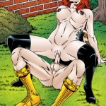 Starfire fucks Nightwing - Leandro Comics Starfire sex