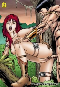 Rare Leandro drawings - Leandro Comics Red Sonja sex