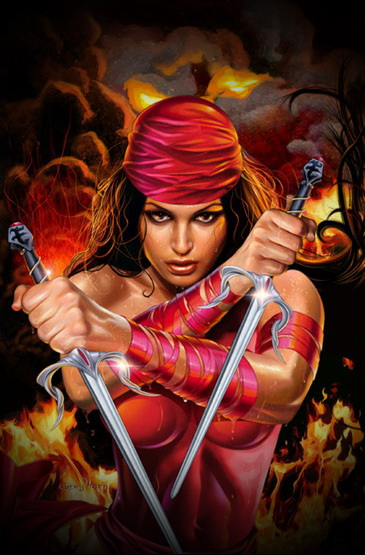 Daredevil fucks Elektra